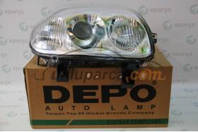 Clio II Elektrikli(Optik) Sağ Far Depo Marka