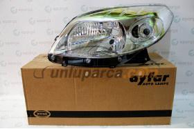 Dacia Sandero Nikelajlı Sol Far Ayfar Marka | Ünlüoto Yedek Parça
